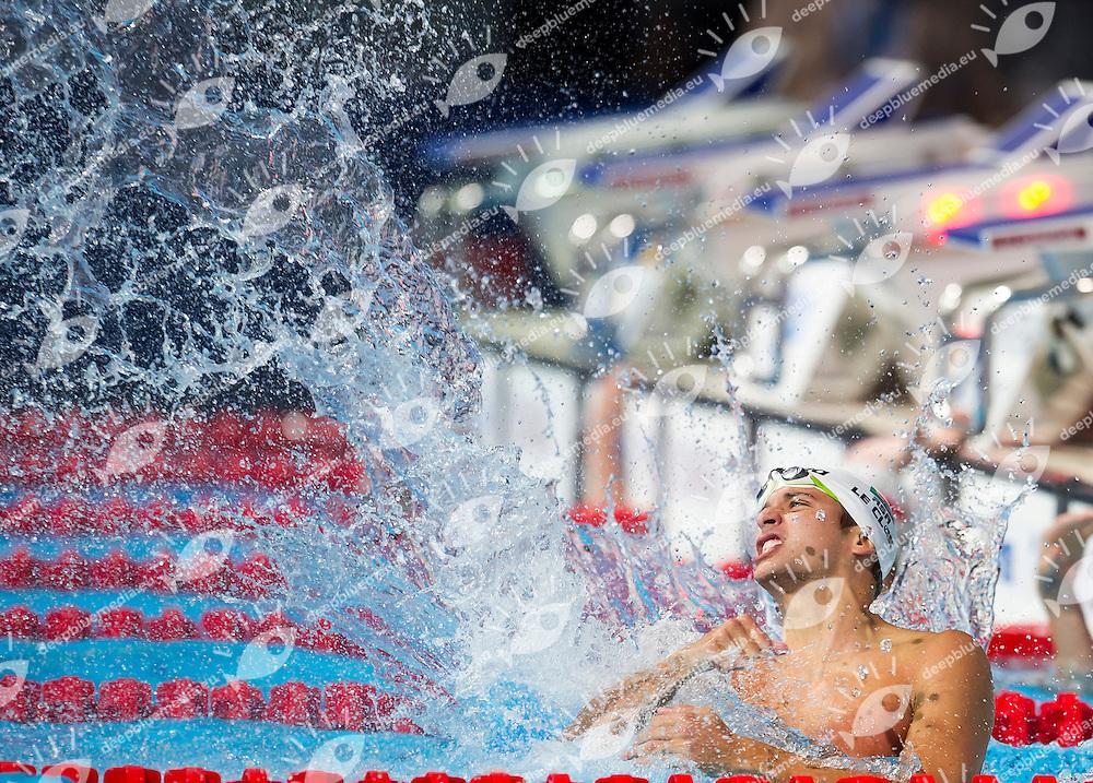 Chad LeCloos RSA gold medal<br /> Men's 100m butterfly final<br /> 15th FINA World Aquatics Championships<br /> Palau Sant Jordi, Barcelona (Spain) 03/08/2013 <br /> &copy; Giorgio Perottino / Deepbluemedia.eu / Insidefoto