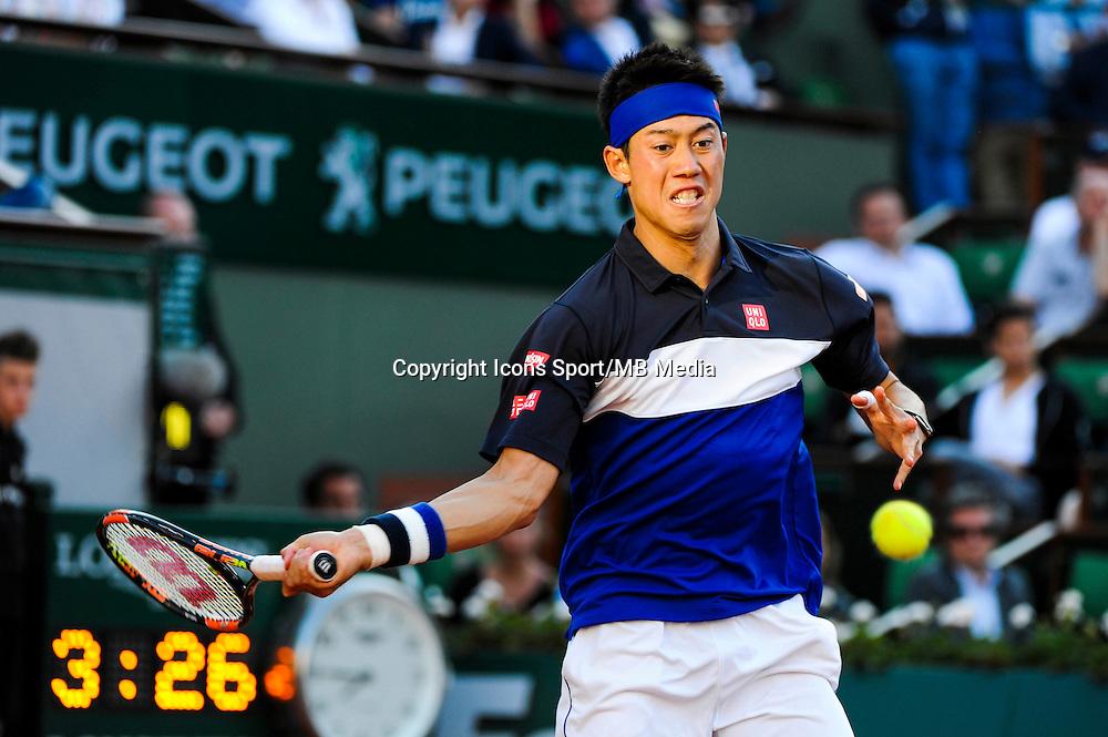 Kei NISHIKORI  - 02.06.2015 - Jour 10 - Roland Garros 2015<br /> Photo : Nolwenn Le Gouic / Icon Sport