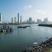 A small protected bay on the waterfront of Panama City, Panama, on Panama Bay.