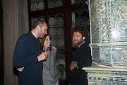 ROBERTO DEGANO; CARLA DEGANO; DARIO IJUGLIELMI, Andrea Dibelius of the EMDASH Foundation hosts party to celebrate the Austrian Pavilion and artist Mathias Poledna at the Venice Biennale. Palazzo Barbaro, Venice. 30 May 2013<br /> <br /> <br /> Venice. Venice Bienalle. 28 May 2013