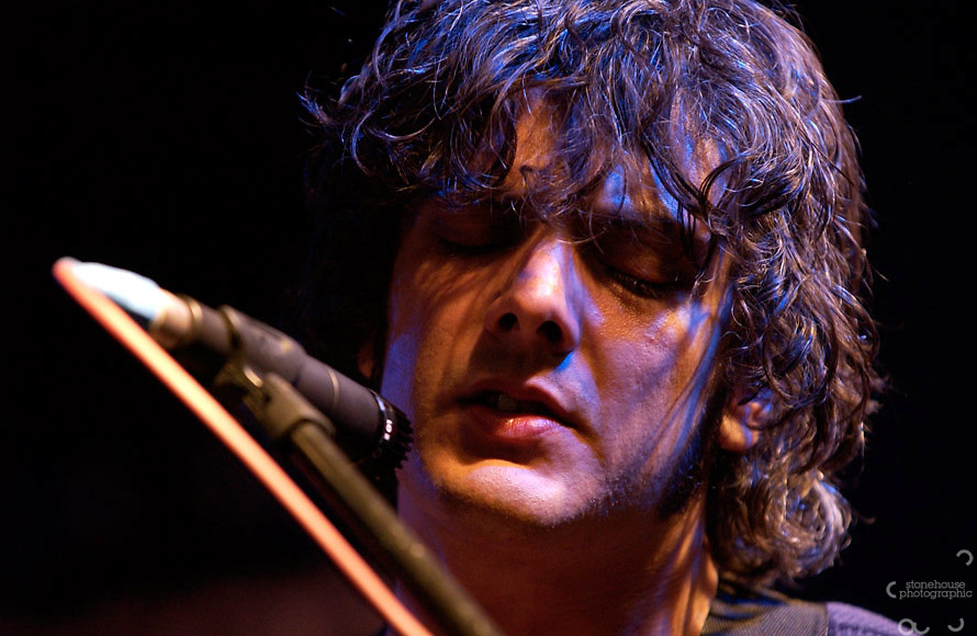Peter Haynes of American band Black Rebel Motorcycle Club perform live at Virgin performance event.