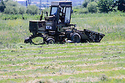 harvester harvesting a field Photographed in Armenia