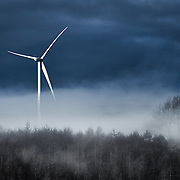 Wind Turbine in Mist