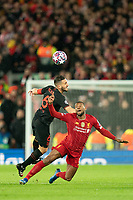 Football - 2019 / 2020 UEFA Champions League - Round of Sixteen, Second Leg: Liverpool (0) vs. Atletico Madrid (1)<br /> <br /> Liverpool's Georginio Wijnaldum battles with Koke of Atletico Madrid, at Anfield.<br /> <br /> <br /> COLORSPORT/TERRY DONNELLY