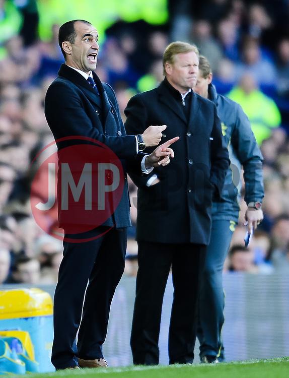 Everton Manager, Roberto Martinez shouts instructions to his players - Photo mandatory by-line: Matt McNulty/JMP - Mobile: 07966 386802 - 04/04/2015 - SPORT - Football - Liverpool - Goodison Park - Everton v Southampton - Barclays Premier League