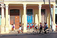 Going home from school in Guines, Mayabeque, Cuba.