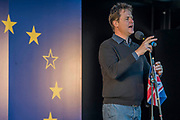 Nick Clegg MP speaks - Unite for Europe march attended by thousands on the weekend before Theresa May triggers article 50. The march went from Park Lane via Whitehall and concluded with speeches in Parliament Square.