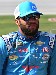 October 14, 2018 - Talladega, AL, U.S. - TALLADEGA, AL - OCTOBER 14: Darrell Wallace Jr., Richard Petty Motorsports, Chevrolet Camaro Medallion Bank/Petty's Garage (43) on pit road before the 1000Bulbs.com 500 on October 14, 2018, at Talladega Superspeedway in Tallageda, AL.(Photo by Jeffrey Vest/Icon Sportswire) (Credit Image: © Jeffrey Vest/Icon SMI via ZUMA Press)
