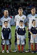 Scotland's Thomas Cairney and mascot - Scotland v Holland - UEFA U21 European Championship qualifier at St Mirren Park..© David Young - .5 Foundry Place - .Monifieth - .Angus - .DD5 4BB - .Tel: 07765 252616 - .email: davidyoungphoto@gmail.com.web: www.davidyoungphoto.co.uk