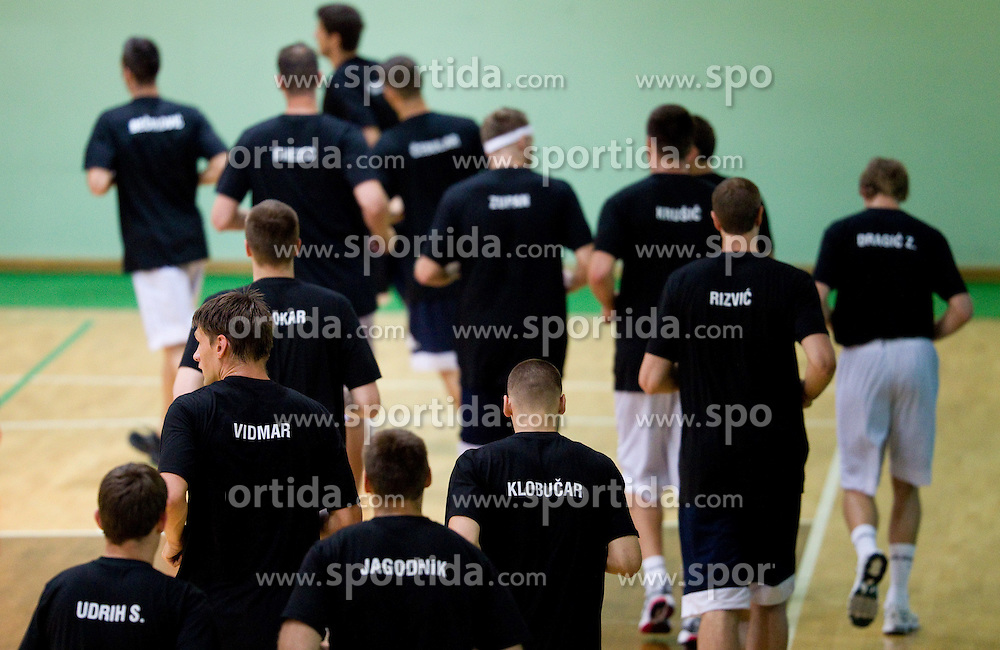 Players at practice session of Slovenia basketball team on media day on July 16, 2010 at Rogla sports center, Slovenia. (Photo by Vid Ponikvar / Sportida)