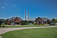 Homes across from the Kingston Fossil Plant, a coal plant in Harriman Tennessee.