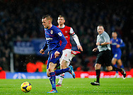 Picture by Mike  Griffiths/Focus Images Ltd +44 7766 223933<br /> 01/01/2014<br /> Per Mertesacker of Arsenal and Craig Noone of Cardiff City during the Barclays Premier League match at the Emirates Stadium, London.