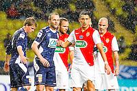 Lucas Ocampos / Olivier Sorlin / Valere Germain / Andrea Raggi / Jesper Juelsgaard  - 21.01.2015 - Monaco / Evian Thonon   - Coupe de France 2014/2015<br /> Photo : Sebastien Nogier / Icon Sport