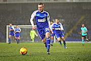 Ipswich Town forward Freddie Sears (20) goes forward during the EFL Sky Bet Championship match between Ipswich Town and Derby County at Portman Road, Ipswich, England on 31 January 2017. Photo by Nigel Cole.