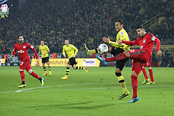 07.12.2013, Signal Iduna Park, Dortmund, GER, 1. FBL, Borussia Dortmund vs Bayer 04 Leverkusen, 15. Runde, im Bild Pierre-Emerick Aubameyang #17 (Borussia Dortmund) im Zweikampf gegen Emre Can #10 (Bayer 04 Leverkusen), Aktion, Action // during the German Bundesliga 15th round match between Borussia Dortmund and Bayer 04 Leverkusen at the Signal Iduna Park in Dortmund, Germany on 2013/12/08. EXPA Pictures © 2013, PhotoCredit: EXPA/ Eibner-Pressefoto/ Schueler<br /> <br /> *****ATTENTION - OUT of GER*****