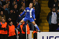 Roman Zozulya of Dnipro Dnipropetrovsk celebrates scoring the opening goal during the UEFA Europa League match at White Hart Lane, London<br /> Picture by David Horn/Focus Images Ltd +44 7545 970036<br /> 27/02/2014