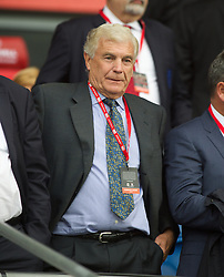 CARDIFF, WALES - Tuesday, August 21, 2014: England FA's Trevor Brooking before the FIFA Women's World Cup Canada 2015 Qualifying Group 6 match against Wales at the Cardiff City Stadium. (Pic by Ian Cook/Propaganda)