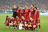KIEV, UKRAINE - MAY 26: team Liverpool before the UEFA Champions League final between Real Madrid and Liverpool at NSC Olimpiyskiy Stadium on May 26, 2018 in Kiev, Ukraine. (MB Media)