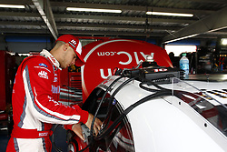 April 27, 2018 - Talladega, Alabama, United States of America - Ryan Reed (16) gets ready to take the track to practice for the Spark Energy 300 at Talladega Superspeedway in Talladega, Alabama. (Credit Image: © Justin R. Noe Asp Inc/ASP via ZUMA Wire)
