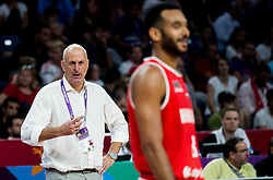 Stojan Ivkovic, head coach of Hungary during basketball match between National Teams of Serbia and Hungary at Day 11 in Round of 16 of the FIBA EuroBasket 2017 at Sinan Erdem Dome in Istanbul, Turkey on September 10, 2017. Photo by Vid Ponikvar / Sportida
