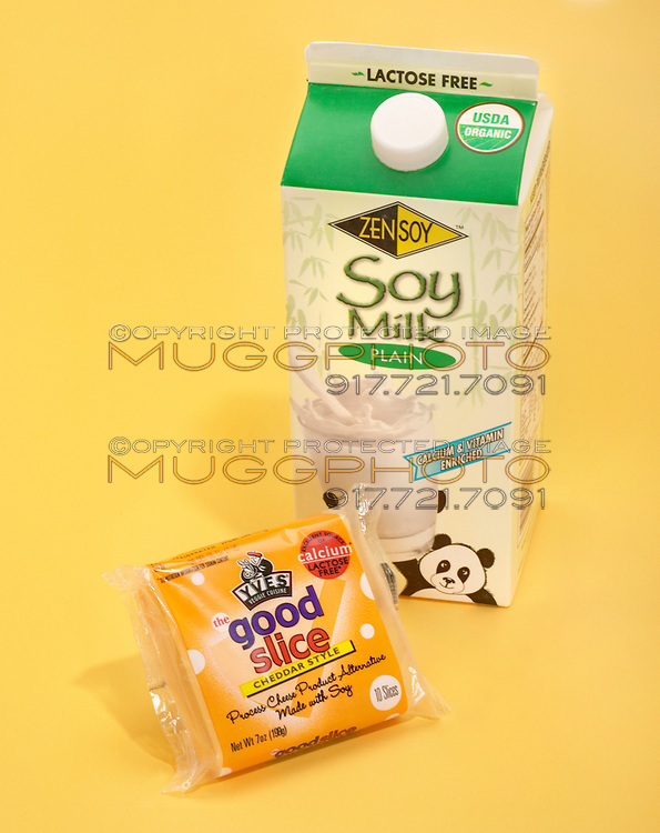 soy milk and soy cheese dairy alternative