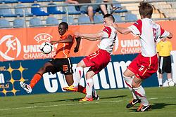 10-05-2012 VOETBAL: UEFA EK-17 NEDERLAND - POLEN: LENDAVA<br /> Nederland speelt 0-0 tegen Polen en plaatst zich voor de halve finale / Queensy Menig of Netherlands<br /> ©2012-FotoHoogendoorn.nl/Erik Kavas