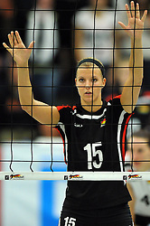 09.10.2010, Halle Berg Fidel, Muenster, GER, Vorbereitung Volleyball WM Frauen 2010, Laenderspiel Deutschland ( GER ) vs. Tuerkei ( TUR ), im Bild Maren Brinker (#15 GER). EXPA Pictures © 2010, PhotoCredit: EXPA/ nph/   Conny Kurth+++++ ATTENTION - OUT OF GER +++++