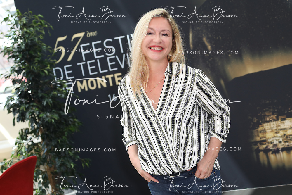 """MONTE-CARLO, MONACO - JUNE 17:  Jeanne Savary attends photocall for """"En Famille"""" on June 17, 2017 at the Grimaldi Forum in Monte-Carlo, Monaco.  (Photo by Tony Barson/FilmMagic)"""