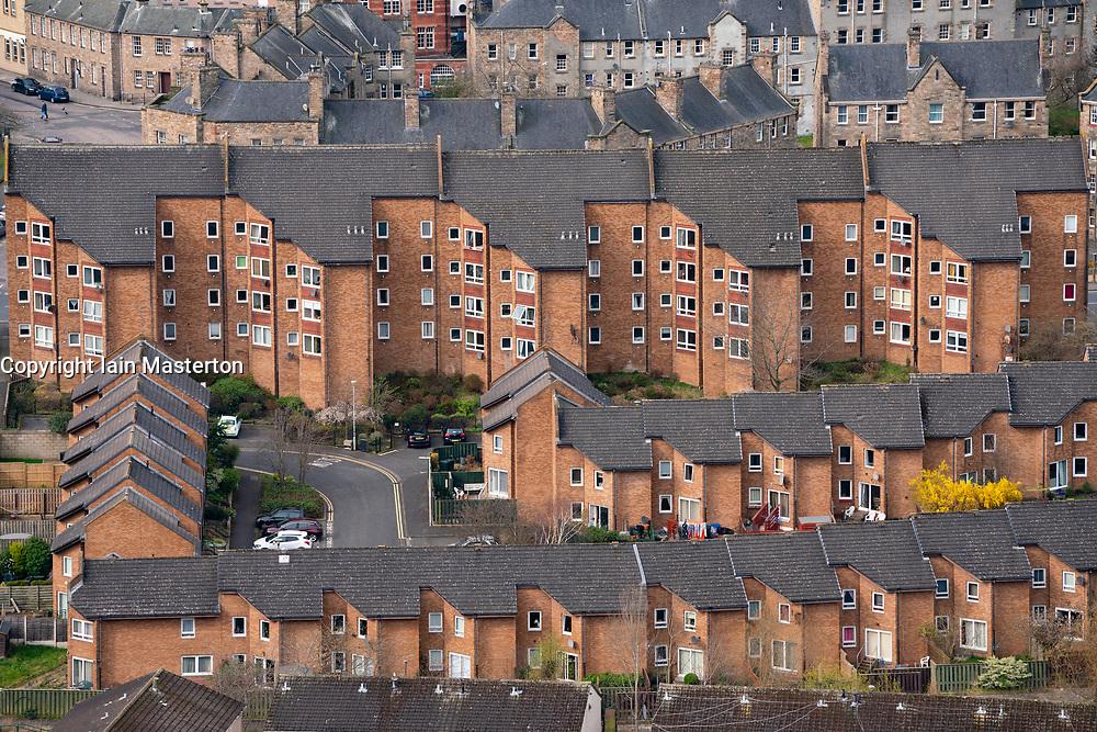View of modern apartment blocks in Edinburgh, Scotland, UK