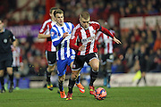 Jake Bidwell during the The FA Cup match between Brentford and Brighton and Hove Albion at Griffin Park, London, England on 3 January 2015.
