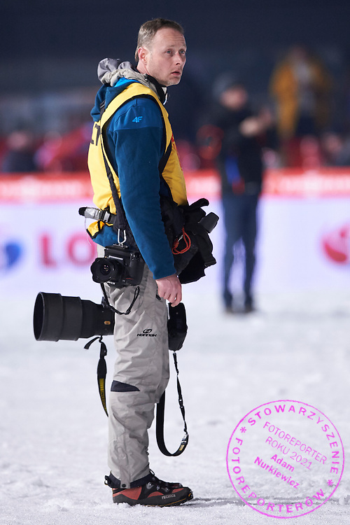 Photographer Irek Dorozanski (Forum Agency) competes during FIS World Cup Ski Jumping competition in Zakopane, Poland on January 17, 2015.<br /> <br /> Poland, Zakopane, January 17, 2015.<br /> <br /> Picture also available in RAW (NEF) or TIFF format on special request.<br /> <br /> For editorial use only. Any commercial or promotional use requires permission.<br /> <br /> Mandatory credit:<br /> Photo by &copy; Adam Nurkiewicz / Mediasport