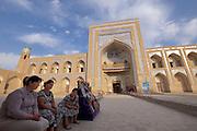 Uzbekistan, Khiva. Mohammed Rakhim Khan Medressa.