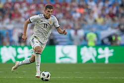 June 25, 2018 - Samara, Russia - Roman Zobnin of Russia in action during the 2018 FIFA World Cup Russia group A match between Uruguay and Russia at Samara Arena on June 25, 2018 in Samara, Russia. (Credit Image: © Foto Olimpik/NurPhoto via ZUMA Press)