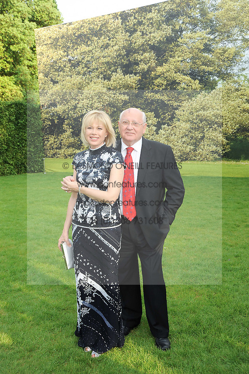 MIKHAIL GORBACHEV and his daughter IRINA VIRGANSKAYA at the Raisa Gorbachev Foundation Party held at Stud House, Hampton Court Palace on 5th June 2010.  The night is in aid of the Raisa Gorbachev Foundation, an international fund fighting child cancer.