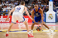 Real Madrid's Jaycee Carroll and Anadolu Efes's Jayson Granger during Turkish Airlines Euroleague match between Real Madrid and Anadolu Efes at Wizink Center in Madrid, April 07, 2017. Spain.<br /> (ALTERPHOTOS/BorjaB.Hojas)