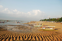 Sanur beach at low tide early in the morning.  Bali, Indonesia.
