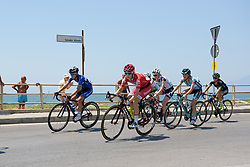 Nicole Hanselmann in the bunch along the seafront in Salerno on Stage 8 of the Giro Rosa - a 141.8 km road race, between Baronissi and Centola fraz. Palinuro on July 7, 2017, in Salerno, Italy. (Photo by Sean Robinson/Velofocus.com)