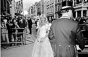 Lady Tryon. Outside Claridges. 1986.  *** Local Caption *** -DO NOT ARCHIVE-© Copyright Photograph by Dafydd Jones. 248 Clapham Rd. London SW9 0PZ. Tel 0207 820 0771. www.dafjones.com.