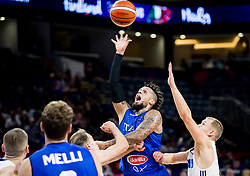Daniel Hackett of Italy vs Sasu Salin of Finland during basketball match between National Teams of Finland and Italy at Day 10 in Round of 16 of the FIBA EuroBasket 2017 at Sinan Erdem Dome in Istanbul, Turkey on September 9, 2017. Photo by Vid Ponikvar / Sportida