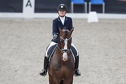 Sekreve Jennifer, (NED), Ferrero<br /> Selectie 5 jarige WK paarden<br /> Dutch Championship Dressage - Ermelo 2015<br /> © Hippo Foto - Dirk Caremans<br /> 18/07/15