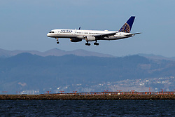 Boeing 757-224 (N41140) operated by United Airlines landing at San Francisco International Airport (KSFO), San Francisco, California, United States of America