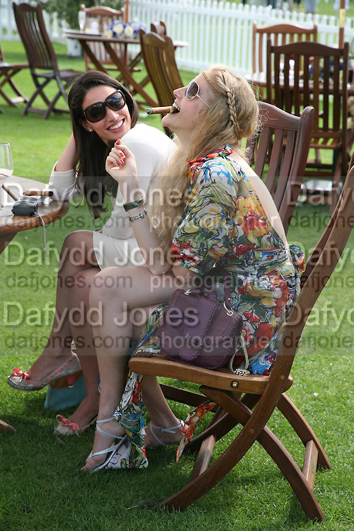 Dr. Sophie Kefi and Dr. Emma Stevenson, Cartier International Polo. Guards Polo Club. Windsor Great Park. 29 July 2007.  -DO NOT ARCHIVE-© Copyright Photograph by Dafydd Jones. 248 Clapham Rd. London SW9 0PZ. Tel 0207 820 0771. www.dafjones.com.