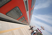 Israel, Train at a train station