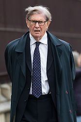 © Licensed to London News Pictures. 05/12/2018. London, UK. Sir Bill Cash MP arriving at the Houses of Parliament today.  Photo credit: Vickie Flores/LNP