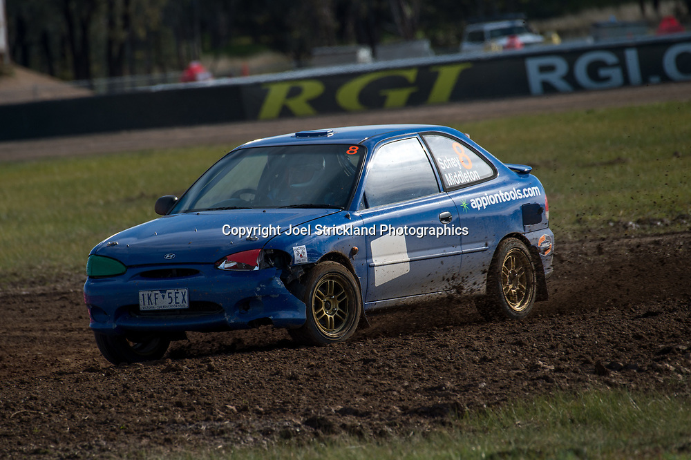 Neil Schey - Hyundai Excel  - Rallycross Australia - Winton Raceway - 16th July 2017