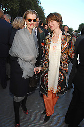Left to right, MARIE DONNELLY and ALI HUE-WILLIAMS at a reception at the gold medal winning De Beers garden in aid of the KT Wong Charitable Trust at the 2nd day of the 2008 Chelsea Flower show on 20th May 2008.<br />