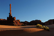 The Totem Pole at Monument Valley at sunset