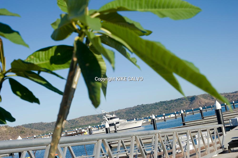 Peninsula Papagayo on Costa Rica's north Pacific Coast.Pictured: The new Marina Papagayo in Bahia Culebra. B1276