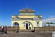 Pavillion kiosk building on St Kilda pier. St Kilda, Melbourne, Australia