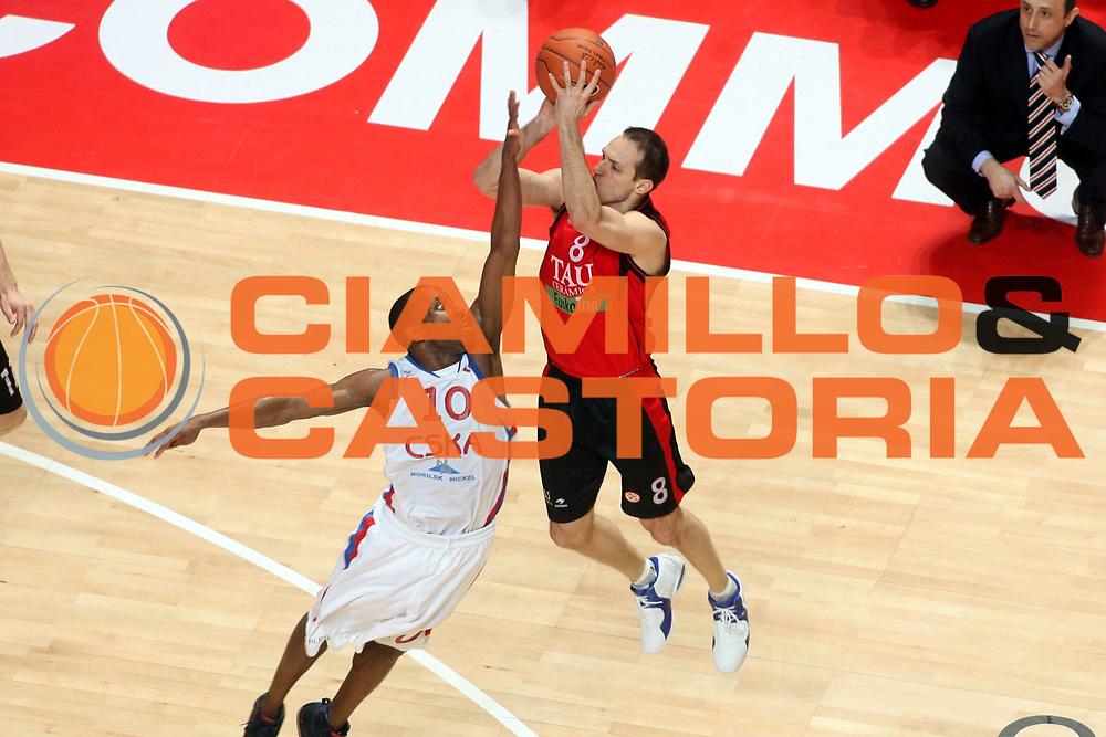DESCRIZIONE : Madrid Eurolega 2007-08 Final Four Semifinale Tau Vitoria Cska Mosca <br />GIOCATORE : Igor Rakocevic<br />SQUADRA : Tau Vitoria<br />EVENTO : Eurolega 2007-2008 <br />GARA : Tau Vitoria Cska Mosca <br />DATA : 02/05/2008 <br />CATEGORIA : Tiro<br />SPORT : Pallacanestro <br />AUTORE : Agenzia Ciamillo-Castoria/G.Ciamillo